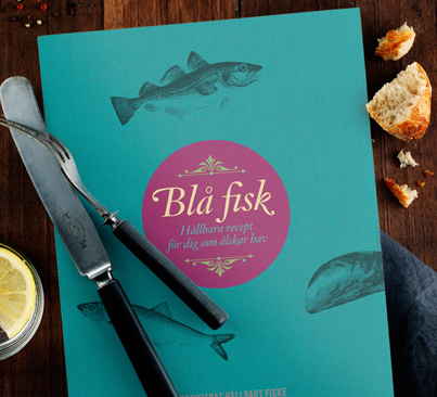 kokbok blå fisk