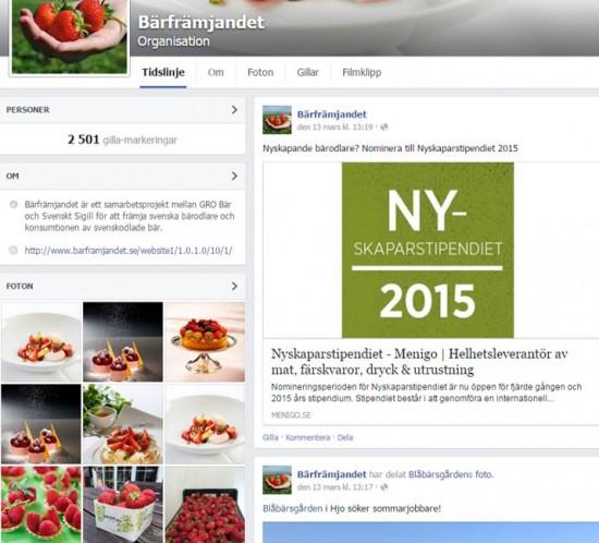 Bärfrämjandet - Facebook analys